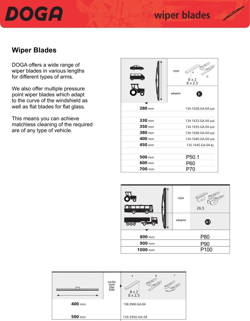Doga wiper blades