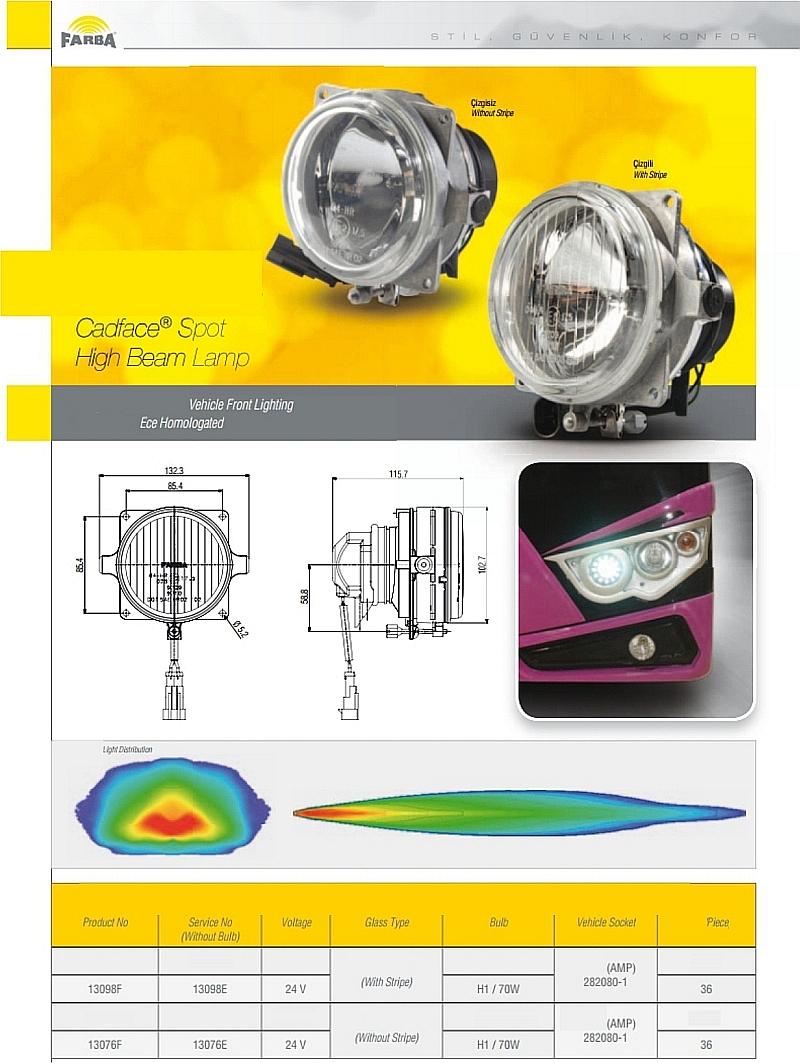 Cadface Spotlamp high beam lamp