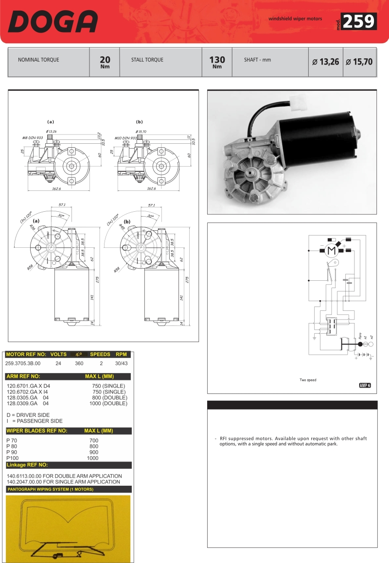 Doga Wiper Motor Wiring Diagram Schemes Valeo Motors Oe Coach Supplies Rh Oecoachsupplies Co Za Dodge